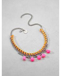 Patrizia Pepe | Metallic Junk Jewellery Necklace for Men | Lyst