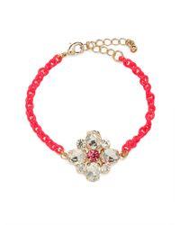 BaubleBar | Pink Fuchsia Ice Clover Bracelet | Lyst