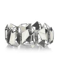Bottega Veneta | Metallic Enameled Sterling Silver Bracelet | Lyst