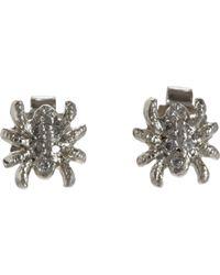 Cathy Waterman | Metallic Women's Petite Spider Studs | Lyst