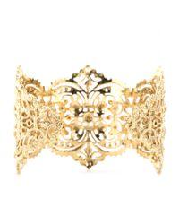 Iam By Ileana Makri Metallic Chantilly Lace Cuff Bracelet