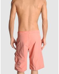 Scotch & Soda - Pink Swimming Trunk for Men - Lyst