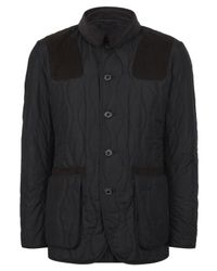 Barbour - Blue Navy Sporting Onion Quilted Jacket for Men - Lyst