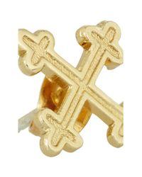 Bing Bang - Metallic Cardinal Goldplated Cross Stud Earrings - Lyst