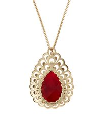 Kendra Scott | Newlyn Pink Agate Necklace | Lyst