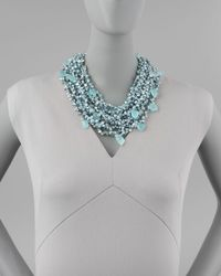 Devon Leigh - Metallic Pearl Chalcedony Necklace - Lyst