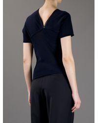 Gustavo Lins - Blue Asymmetric Knit Top - Lyst