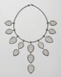 John Hardy - Metallic Dot Gold Silver Fringe Necklace - Lyst