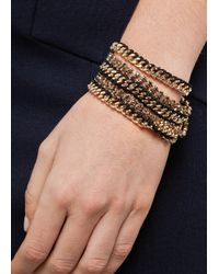 Mango - Metallic Touch Chains Crystals Bracelets - Lyst