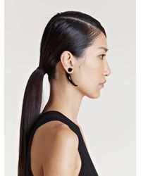 Givenchy   Black Womens Horn Earring   Lyst