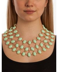 BaubleBar - Green Mint Cabochon Necklace - Lyst