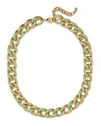 BaubleBar - Green Mint Gloss Enamel Necklace - Lyst
