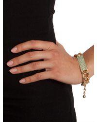 BaubleBar - Metallic Mint Link Bar Bracelet - Lyst