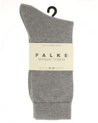 Falke - Gray Sensual Soft Touch Socks - Lyst