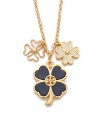 Tory Burch - Metallic Shawn Cluster Necklace - Lyst