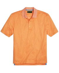 Brooks Brothers - Orange St Andrews Links Printed Polo Shirt for Men - Lyst