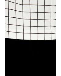 Callula Lillibelle - White Minzy Gridprint Silkcharmeuse Dress - Lyst