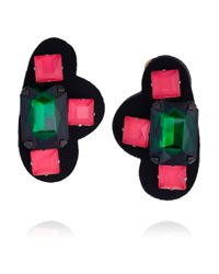 Marni - Black Resin and Acetate Clip Earrings - Lyst