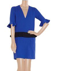 ROKSANDA Blue Zazie Ruffled Wool Crepe Dress