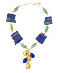 Devon Leigh | Blue Lapis & Turquoise Necklace | Lyst