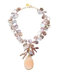Devon Leigh | Moonstone Pink Pearl Necklace | Lyst