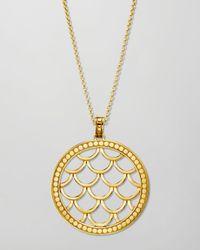 John Hardy - Metallic 18k Gold Naga Pendant Necklace - Lyst