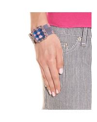 Marc By Marc Jacobs | Blue Crystal Bead Embellished Mesh Bracelet | Lyst