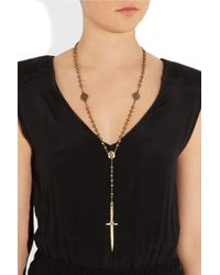 Pamela Love - Metallic Rosebud Dagger Bronze Necklace - Lyst