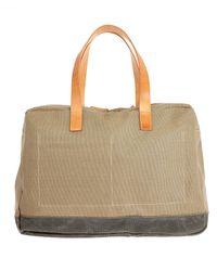 Ally Capellino - Green Khaki Dave Donkey Waxed Canvas Bag for Men - Lyst