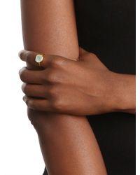 BaubleBar - Metallic Margaret Elizabeth Labradorite Cushion Cut Ring - Lyst