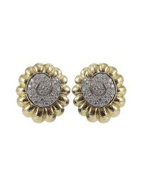 David Webb - Metallic Diamond Swirl Earrings - Lyst