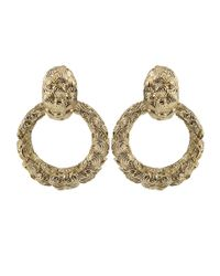 David Webb | Metallic Textured Hoop Earrings | Lyst