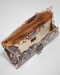 Kara Ross | Blue Electra Medium Ikat Python Clutch Bag | Lyst