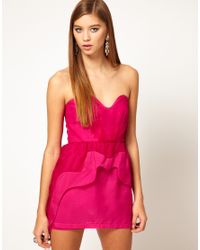 Alice McCALL - Purple Organza Sweetheart Bustier Dress with Asymetric Peplum - Lyst