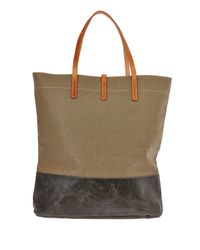 Ally Capellino - Green Khaki Dexy Donkey Waxed Canvas Tote Bag for Men - Lyst