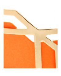 Pierre Hardy - Orange Leather Trimmed Cuff Bracelet - Lyst
