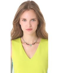 Tom Binns - White Electric Clash Nova Bib Necklace - Lyst