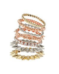 TOPSHOP | Multicolor Rhinestone and Spike Bracelet Pack | Lyst