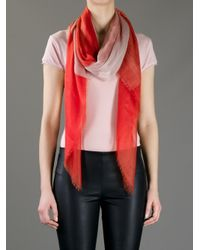 Agnona - Orange Bicolour Scarf - Lyst