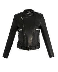 Saint Laurent | Black Leather Biker Jacket | Lyst