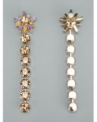 Christian Lacroix | Metallic Glamour Flower Earrings | Lyst