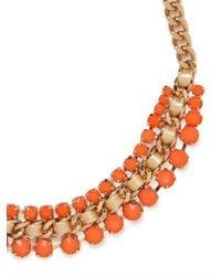 BaubleBar - Green Woven Stonework Collar - Lyst