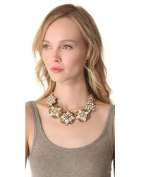 Deepa Gurnani - Metallic Embellished Statement Necklace - Lyst