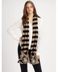 Marc By Marc Jacobs   Brown Balloon Miss Marc Scarf   Lyst
