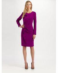 Teri Jon   Pink Silk Dress   Lyst