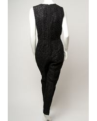 Giambattista Valli - Black Sleeveless Lace Jumpsuit - Lyst