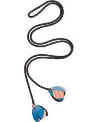 Marni | Black Cord and Vinyl Lariat Necklace | Lyst