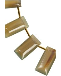 Marni - Metallic Goldtone Horn Necklace - Lyst