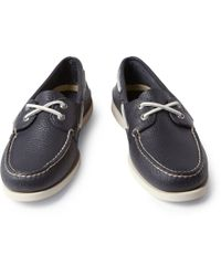 Sperry Top-Sider | Blue Full Grain Leather Boat Shoes for Men | Lyst