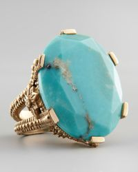 Stephen Dweck | Metallic Oval Turquoise Cocktail Ring | Lyst